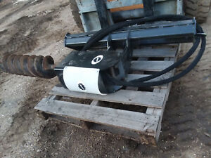 Budd 2 Earth Auger Post Hole Digger Skid Steer Bobcat Jd Kubota Gehl Hydraulic