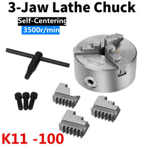 K11 100 3 jaw 4inch Self centering Metal Lathe Chuck For Cnc Milling Drilling Lj