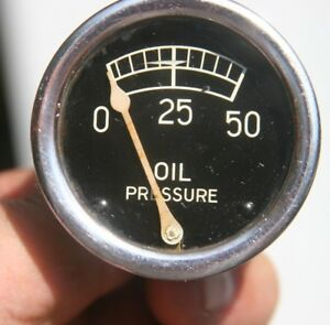 Vintage Stewart Warner Smoothie Tulip Needle Oil Pressure Gauge Scripted Scribed