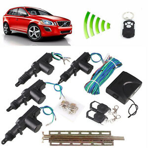 4 Door Power Central Lock Kit Car Remote Control Conversion W 2 Keyless Entry L