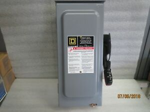 Square d 30 amp 240vac single throw safety switch 2p h221nrb new