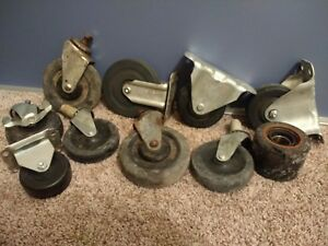 Good Vintage 4 Large Heavy Duty Industrial Commercial Caster Wheels L