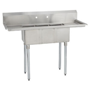 3 Three Compartment Commercial Stainless Steel Sink 54 X 19 8 G