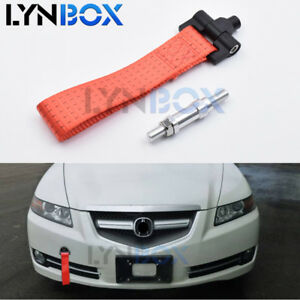 Tow Hook Towing Trailer Belt Strap Tow Rope For Honda Fit S2000 Ap1 Ap2 Acura Tl