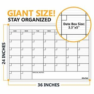 Wall Calendars Wet Dry Erase Markers Board Monthly Planner Home Office 24 X 36