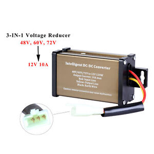 Golf Cart Dc Converter 48v 48 Volt 60v 72v Voltage Reducer Regulator To 12v 10a