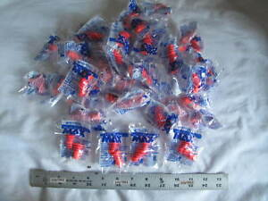 50 Pair Individually Wrapped Howard Leight Max 1 Soft Foam Ear Plugs Nrr33