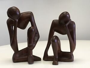 Vintage Danish Modern Meditative Men Sculptures