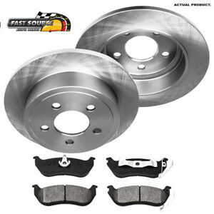 For 2003 2004 2005 2006 Jeep Liberty Wrangler Rear Brake Rotors Metallic Pads
