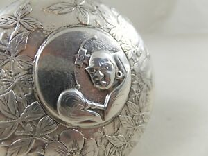 Whiting Aesthetic Japanese Sterling Silver Box 1880 1900