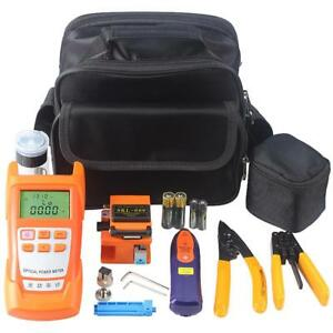 9 In 1 Fiber Optic Ftth Tools Kit With Fiber Cleaver And Optical Power Meter 5km