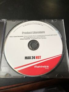 Mahindra Tractor Max 24 Hst Dealer Service Repair And More Cd Manual
