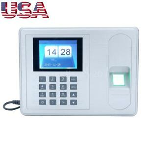 Employee Fingerprint Recorder Attendance Clock Time Card Machine 2 4 Tft T4