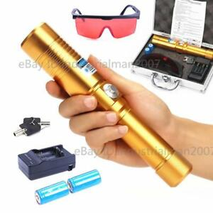 New High Power Blue Laser Pointer Pen 405nm Beam Lazer Burning Laser 2x16340 Gd
