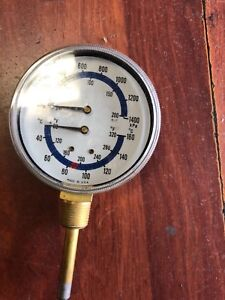 Boiler Gauge With 4 Dial And 3 4 Inch Npt 80 To 320 Fahrenhei Pressure 0 To 200