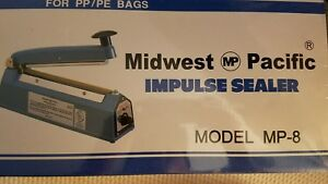 Midwest Pacific Impulse Sealer Mp 8 For Pp pe Bags Dvd Cd Shrinkwrap