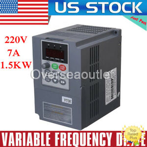 220v 1 5kw 2hp Single Phase To 3 Phase Output Variable Frequency Drive Inverter