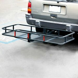 60 Folding Truck Suv Car Cargo Basket Luggage Carrier Rack 2 Hitch Receiver