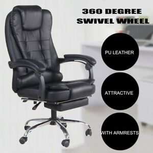 High Back Executive Racing Gaming Chair Reclining Office Chair With Footrest Pc