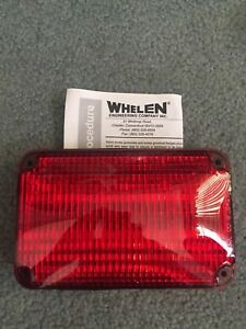 New Whelen 600 Series Red Smartled Super Led 60r02frd Wide Angle
