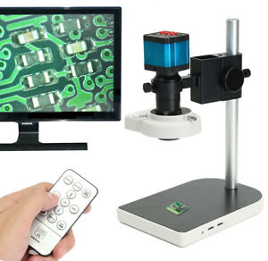 14mp Hdmi Usb Digital Industry Video Microscope Set Camera C mount Lens Dvr New