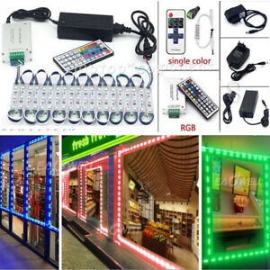 US 10-100FT 5050 3 LED Module Light Store Front Window Sign Lamp (Remote +Power)