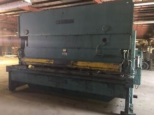 Wysong 12 X5 8 Hydraulic Sheet Metal Plate Shear
