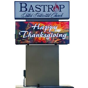 Lscp16 43 x73 Double Sided Led Changing Message Sign Electronic Message Board