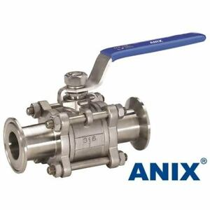 1 Inch Sanitary Ball Valve Tri Clamp Clover Stainless Steel 316