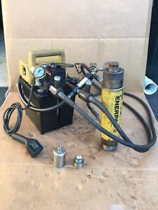 Enerpac Pej 1401d Electric Pump W 4 Way Valve Rd 256 Double Acting Cylinder
