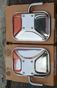 Nos 1973 1987 Chevy Gmc Stainless Steel Mirrors 3 Point West Coast C K 10 20 30