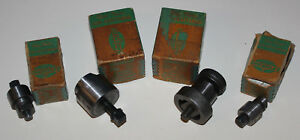 Vintage Lot Of 4 Greenlee 730 732 Radio Chassis Punch Round Key 1 1 4 1 11 64