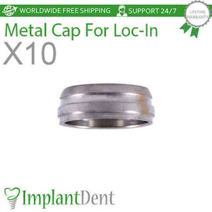 X10 Metal Cap For Locator Abutment Dental Implant Internal Hex