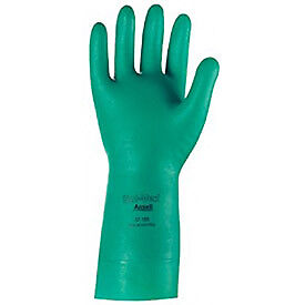 Ansell Sol vex Unsupported Nitrile Gloves L 15 Mil 1 pair Lot Of 12