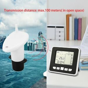 Ultrasonic Wireless Water Tank Liquid Depth Level Meter Sensor Led Display Zq