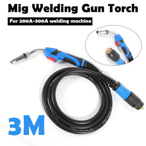 3m Lead Length Mb24 Mig Tool Welding Gun Mig Welder Torch Stinger Parts 200 300a