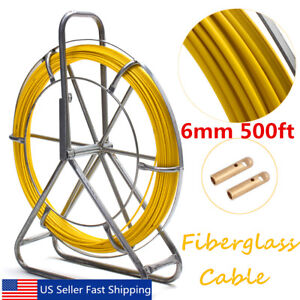6mm 150m Fish Tape Fiberglass Wire Cable Running Rod Duct Rodder Fishtape Puller