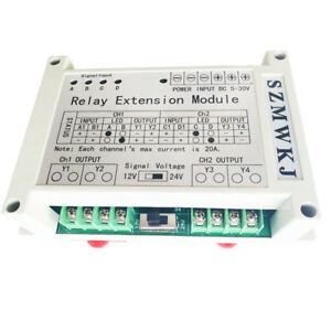 5 30v 2 channel 4 way Relay Module For Dc Motor Loads Large Current Solar System