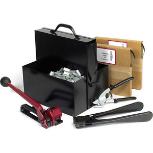 Pac Strapping Steel Strapping Kit With Two 1 2 X 200 Coils Tensioner Sealer