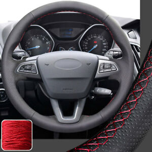Leather Steering Wheel Cover For Ford Focus 2015 16 17 18 Escape rubber Wheel