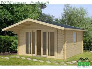 Bzbcabins Sundeck 2s Log Cabin Kit New Model 12 6 X12 6 156 Sq ft sale