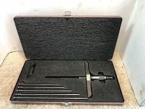 Starrett No 445 Depth Gauge 0 6 6 Base Machinist Tool Free Shipping