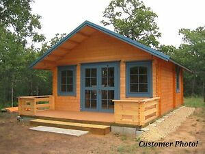 Log Cabin Kit 16 x19 292 Sqf Loft 3 Rooms loft Free Terrace And Shipping