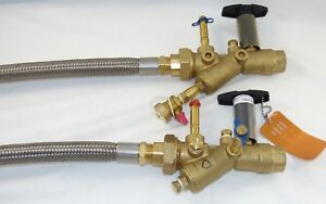 Flow Design Automatic Balancing Ball Valves Union W 2 Pt Ports Hose Assemblies