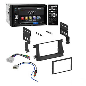 Boss Car Radio Double Din Bluetooth Dash Kit Harness For 2008 11 Honda Ridgeline