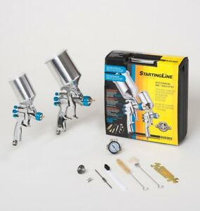 Devilbiss 802342 Startingline Hvlp 2 gun Painting Touch Up Kit 1 3 1 0 1 8