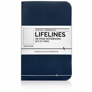 Lifelines Small Pocket Dotted Notebook Mini Bullet Journal For To do Lists