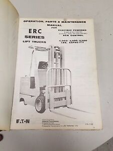 Yale Forklift Erc Series Maintenance And Parts Manual