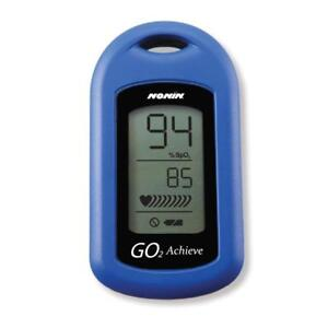 Nonin Medical Go2 Achieve Personal Fingertip Pulse Oximeter Blue Made In The Usa