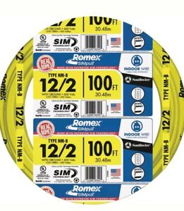 Romex Sim Technology Simpull Southwire 12 2 N mb With Ground 100 Ft Indoor Wire